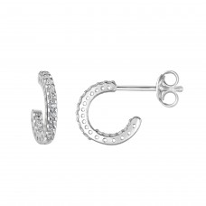 Dew Stu CZ Huggy Hoop Earrings