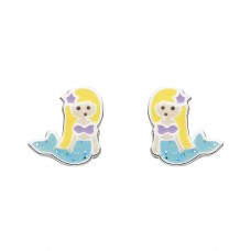 Dew Stu Dinky Enamel Mermaid Studs Earrings