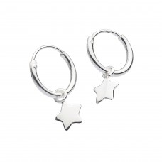 Dew Stu Dinky Hoop with Star Drop Earrings
