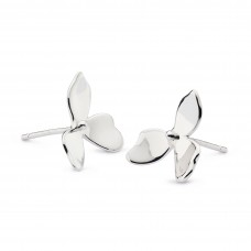 Kit Heath Silver Blossom Petal Bloom Studs Earring