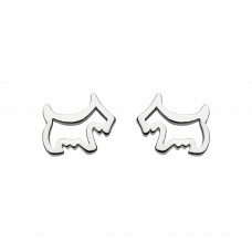 Dew Stu Dinky Scotty Dog Studs Earrings