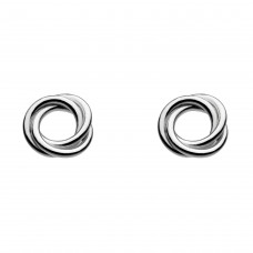 Dew Silver Coiled Stud Earrings
