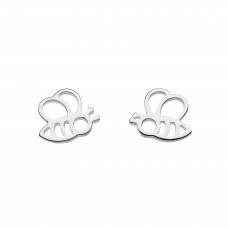 "Dew Silver Dinky ""Honey Bee"" Stud Earrings"