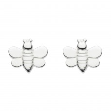 Dew Silver Buzzing Bee Stud Earrings