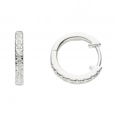 Dew Stu CZ Huggie Studs Earrings