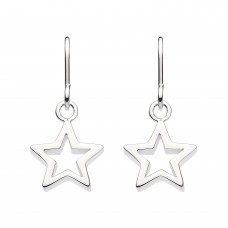 Dew Silver Chunky Star Drop Earrings