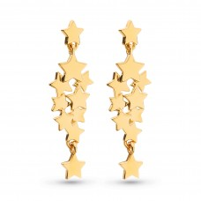 Kit Heath Silver Stargazer Galaxy Gold Plate Drop Earrings