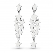 Kit Heath Silver Stargazer Galaxy Drop Earrings