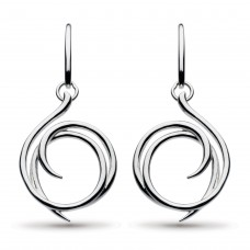 Kit Heath Silver Twine Helix Wrap Drop Earrings