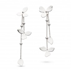 Kit Heath Silver Blossom Petal Bloom Drop Earrings - NHS10