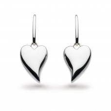 Kit Heath Silver Desire Forever Lust Heart Drop Earrings