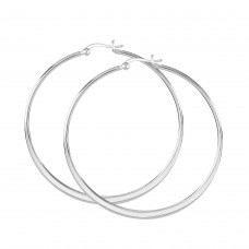 Dew Set Curved 55mm Hoop Earrings