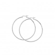 Dew Set Diamond Cut 50mm Hoop Earrings