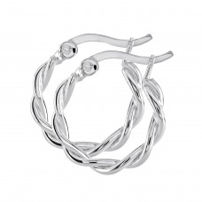 Dew Stu Twisted 16mm Hoop Earrings