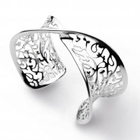 Kit Heath Silver Blossom Flourish Cuff - NHS10