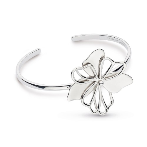 Kit Heath Silver Blossom Full Bloom Cuff Bracelet