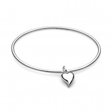 Kit Heath Silver Desire Forever Lust Heart Bangle