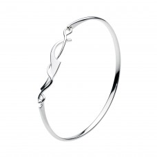 Dew Silver Lobster Claw Bangle