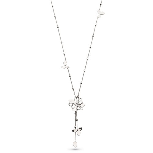Kit Heath Silver Blossom Full Bloom Necklace