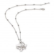 Kit Heath Silver Blossom Full Bloom Large Necklace