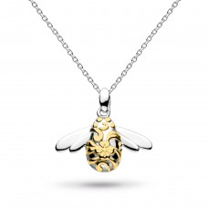Kit Heath Silver Blossom Bumblebee Gold Plate Necklace