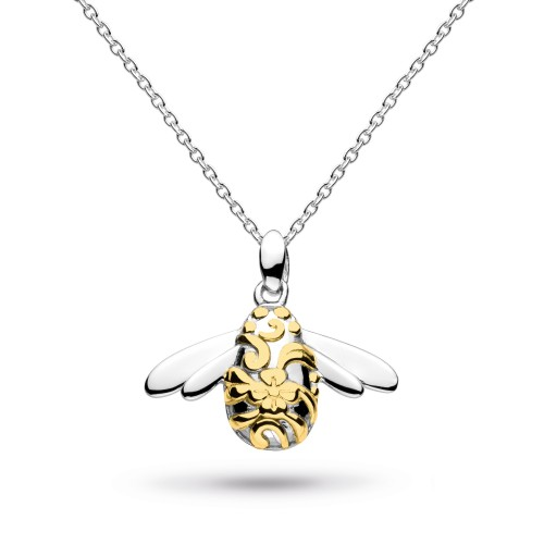 Kit Heath Silver Blossom Bumblebee Gold Plate Necklace - NHS10