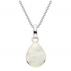 Dew Dro Pear Shape Mother of Pearl With Gold Plate Pendant