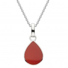 Dew Dro Pear Shape Red Agate Pendant