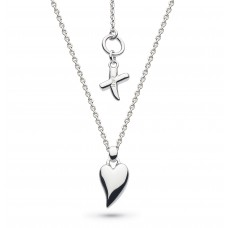 Kit Heath Silver Desire 'Kiss' Mini Heart Necklace