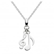 Dew Silver Dinky Musical Notes Pendant