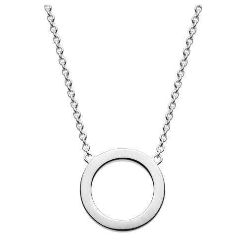 Dew Silver Open Circle Necklace