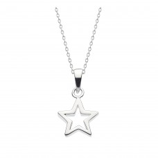 Dew Silver Chunky Star Pendant