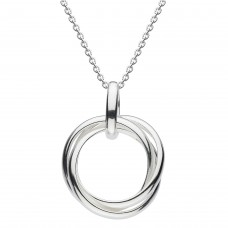 Dew Silver Triple Ring Necklace