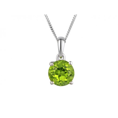 Amore Silver Peridot Purity Necklace