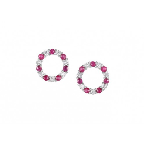 Amore Silver Circle Of Life Studs