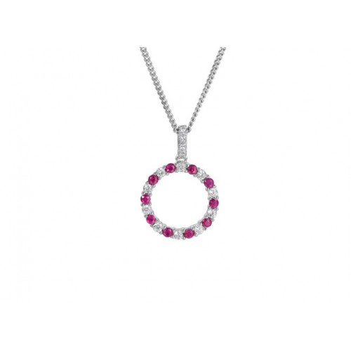 Amore Silver Circle Of Life Necklace