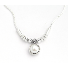 Aviv Silver Pearl Necklace