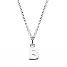 Dew Silver Dinky B Initial Pendant