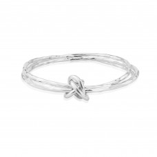 John Garland Taylor Silver Fairy Bangle With Loops