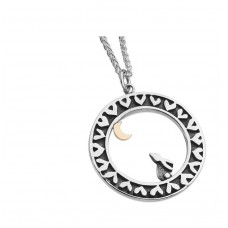 Linda Macdonald Silver Hare And Moon Necklace