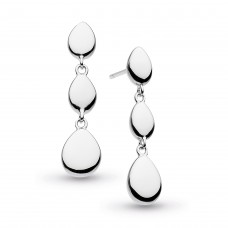 Kit Heath Silver Coast Pebble Linking Drop Earrings