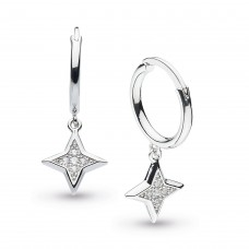 Kit Heath Silver Empire Astoria Stardust Hoop Earrings