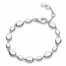 Kit Heath Silver Coast Pebble Linking Bracelet
