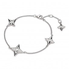 Kit Heath Silver Empire Astoria Tri-Star Bracelet
