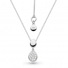 Kit Heath Silver Coast Pebble Glisten CZ Necklace