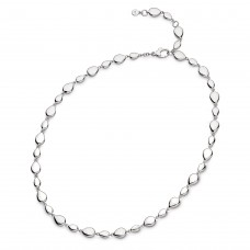 Kit Heath Silver Coast Pebble Linking Necklace