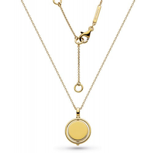 Kit Heath Silver Empire Revival Round Spinner Gold Necklace