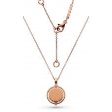 Kit Heath Silver Empire Revival Round Spinner Rose Gold Necklace