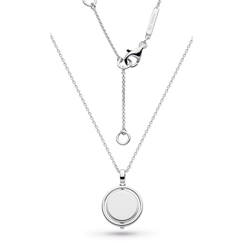 Kit Heath Silver Empire Revival Round Spinner Necklace