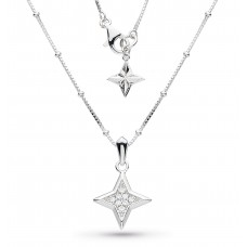 Kit Heath Silver Empire Astoria Stardust Necklace